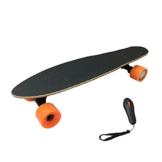 Kinder 4Rad Elektro Skateboard Sport Long Board Retro Skateboard mit Fernbedienung, LG Li-Ion 2,2Ah/15km/h -