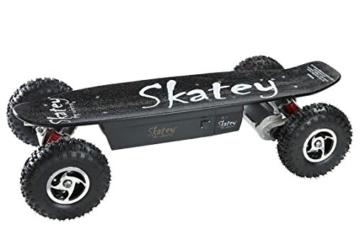 SKATEY 800W black OFFROAD Elektrisches Longboard elektrisches Skateboard -