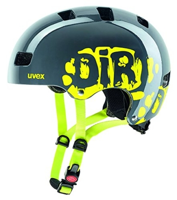 UVEX Kinder Kid 3 Radhelm, Dirtbike Gray-Lime, 51-55 cm -