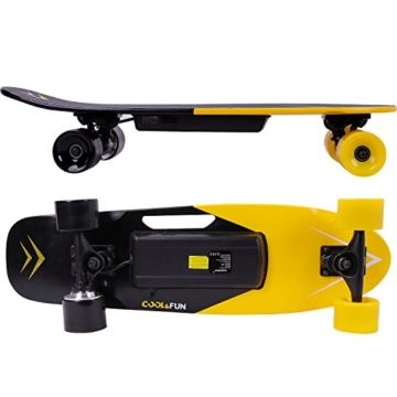 cool fun elektro skateboard gelb