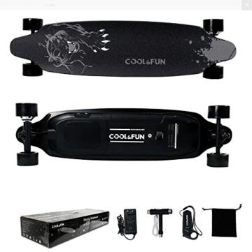coolfun-elektro-skateboard-lg-batterie-mit-fernbedienung-electric-motor-skateboard-800w-4-raeder-schwarzes-panther-design-2