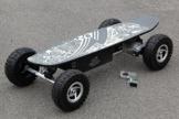 ELEKTRO SKATEBOARD OFF ROAD SCOOTER BIKE BOARD 800WATT 14AH 32KM/H NEU (Schwarz) - 1