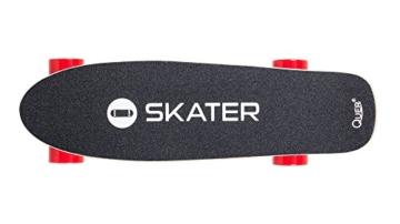 QUER ZAB0025 Elektrisches Skateboard SKATER mit Fernbedienung, bis 120 kg, max. 15 km/h, 2 Fahrmodi, 3 Fahrstufen, schwarz/rot - 2
