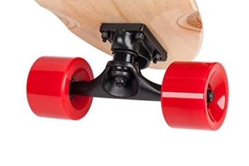 QUER ZAB0025 Elektrisches Skateboard SKATER mit Fernbedienung, bis 120 kg, max. 15 km/h, 2 Fahrmodi, 3 Fahrstufen, schwarz/rot - 5