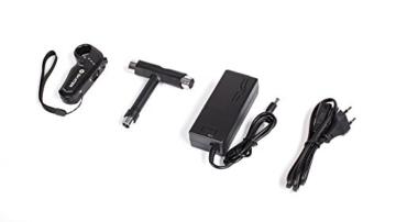 QUER ZAB0025 Elektrisches Skateboard SKATER mit Fernbedienung, bis 120 kg, max. 15 km/h, 2 Fahrmodi, 3 Fahrstufen, schwarz/rot - 7