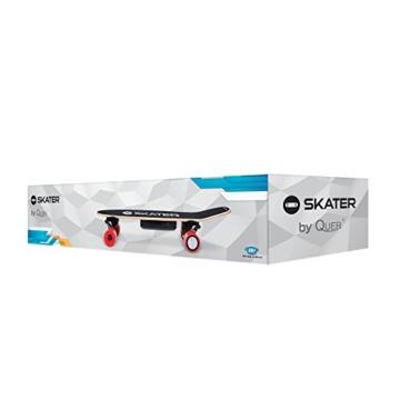 QUER ZAB0025 Elektrisches Skateboard SKATER mit Fernbedienung, bis 120 kg, max. 15 km/h, 2 Fahrmodi, 3 Fahrstufen, schwarz/rot - 8