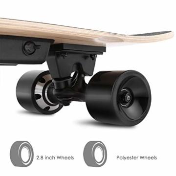 WeSkate E200 Mini-Elektro Skateboard Retro Skateboard mit Fernbedienung und Schubstartsystem, E-Board Mini-Skateboard mit Motor, Li-Ion 2,2 Ah/10-20km/h(2-Gänge), Best Geschenk - 5