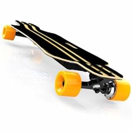 Bright love Tragbares Miniatur-Elektro-Skateboard, Fernbedienung komplette Plastik Retro-Mini-Skateboard Cruiser Street Surf Skateboard Banana Board - 1