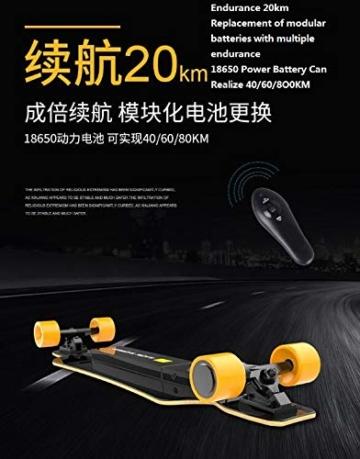 Bright love Tragbares Miniatur-Elektro-Skateboard, Fernbedienung komplette Plastik Retro-Mini-Skateboard Cruiser Street Surf Skateboard Banana Board - 5
