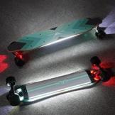 Buffalo Elektro - Skateboard - 36 Zentimeter doppelte Kontrolle mit Bluetooth glatt pu - Caster Longboard Geschenke für mädchen Jungen Teenager (450w, 40 km/h) - 1