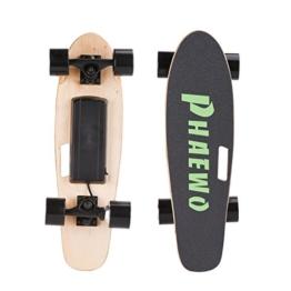 Electric Skateboard Phaewo Wings X3 - motorisiertes Longboard mit Fernbedienung hat eine maximale Geschwindigkeit von 14,5 km/h und eine Ausdauer von 10 Kilometer - 1