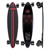 Elektrisches Skateboard Mit Fernbedienung, Elektrisches Longboard Mit Multi-Layer-Ahornfaser, Double Drive Motor Elektrisches Skateboard, 18 Km Reichweite, 30 Km/H, Höchstgeschwindigkeit,Black - 1