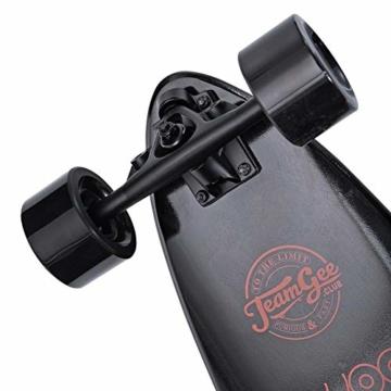 Elektrisches Skateboard Mit Fernbedienung, Elektrisches Longboard Mit Multi-Layer-Ahornfaser, Double Drive Motor Elektrisches Skateboard, 18 Km Reichweite, 30 Km/H, Höchstgeschwindigkeit,Black - 4
