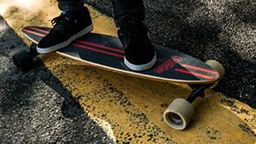 Elektrisches Skateboard Mit Fernbedienung, Elektrisches Longboard Mit Multi-Layer-Ahornfaser, Double Drive Motor Elektrisches Skateboard, 18 Km Reichweite, 30 Km/H, Höchstgeschwindigkeit,Black - 6