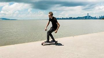 Elektrisches Skateboard Mit Fernbedienung, Elektrisches Longboard Mit Multi-Layer-Ahornfaser, Double Drive Motor Elektrisches Skateboard, 18 Km Reichweite, 30 Km/H, Höchstgeschwindigkeit,Black - 7