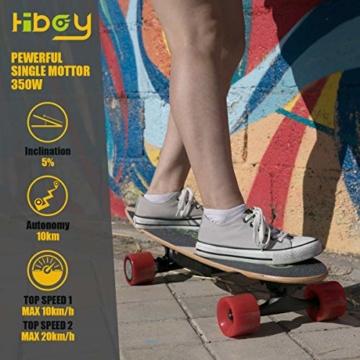Hiboy - Mini Elektrisches Skateboard 4 Rad mit Intelligent Motor [7 Schichten Bambus Board] und Drahtlose Fernbedienung - 3,6 kg Portable Skate Board für Beifahrer, Kinder und Erwachsene - Modell S11 - 5
