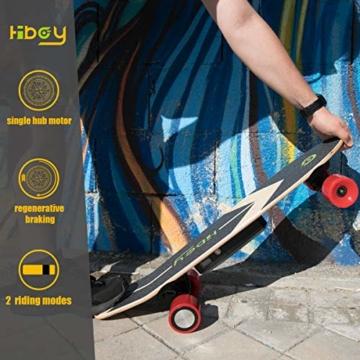 Hiboy - Mini Elektrisches Skateboard 4 Rad mit Intelligent Motor [7 Schichten Bambus Board] und Drahtlose Fernbedienung - 3,6 kg Portable Skate Board für Beifahrer, Kinder und Erwachsene - Modell S11 - 6
