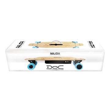 Nilox DOC Skate E-Skateboard, Sky Blue, 75 x 23 x 13 - 6