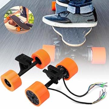 Pinkfishs 550W 90MM 6364 Dual-Hub-Burstenloses Motor Antriebs-Rad-Kit fur Elektro-Skateboard-Longboard - - 2