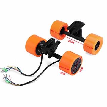 Pinkfishs 550W 90MM 6364 Dual-Hub-Burstenloses Motor Antriebs-Rad-Kit fur Elektro-Skateboard-Longboard - - 4