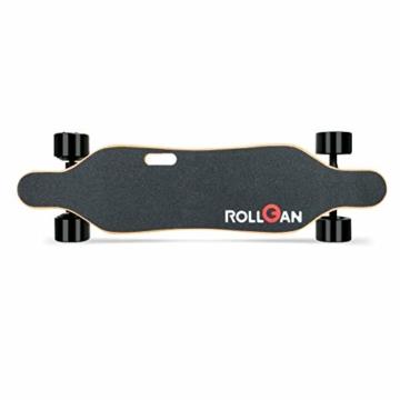 Rollgan Batterie abnehmbares elektrisches Skateboard-Doppelmotoren, drahtlose Direktübertragung mit DREI Geschwindigkeits-Modi, abnehmbare Batterie, Energie-Bank[DE Inventar] - 2