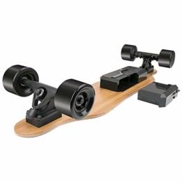Rollgan Batterie abnehmbares elektrisches Skateboard-Doppelmotoren, drahtlose Direktübertragung mit DREI Geschwindigkeits-Modi, abnehmbare Batterie, Energie-Bank[DE Inventar] - 1