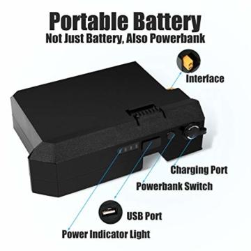 Rollgan Batterie abnehmbares elektrisches Skateboard-Doppelmotoren, drahtlose Direktübertragung mit DREI Geschwindigkeits-Modi, abnehmbare Batterie, Energie-Bank[DE Inventar] - 5