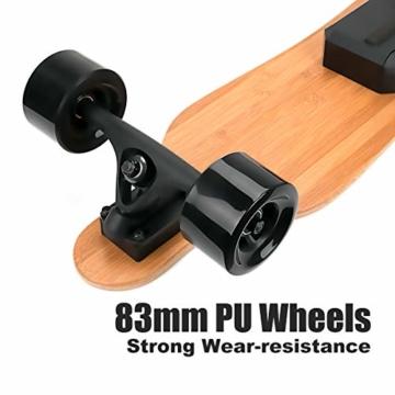Rollgan Batterie abnehmbares elektrisches Skateboard-Doppelmotoren, drahtlose Direktübertragung mit DREI Geschwindigkeits-Modi, abnehmbare Batterie, Energie-Bank[DE Inventar] - 6
