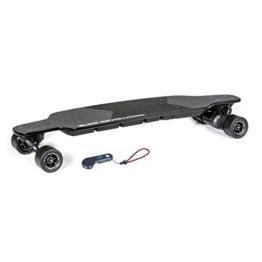 """Slick Revolution Elektro-Skateboard, 2x 1200W Motoren, grobe Rollen, 35Km/h Höchstgeschwindigkeit,""""8–10-mile""""-Serie, Carbon Fibre Deck - 1"""