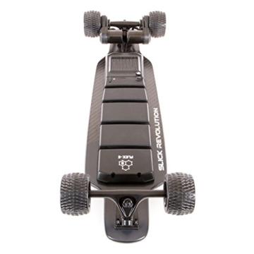 """Slick Revolution Elektro-Skateboard, 2x 1200W Motoren, grobe Rollen, 35Km/h Höchstgeschwindigkeit,""""8–10-mile""""-Serie, Carbon Fibre Deck - 4"""