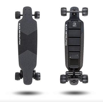 """Slick Revolution Elektro-Skateboard, 2x 1200W Motoren, grobe Rollen, 35Km/h Höchstgeschwindigkeit,""""8–10-mile""""-Serie, Carbon Fibre Deck - 7"""