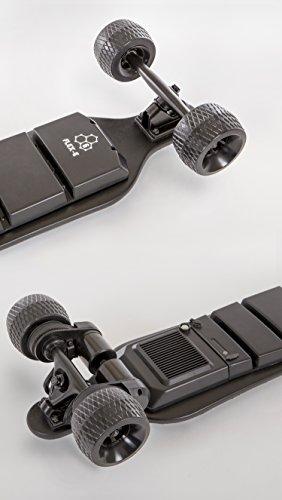 """Slick Revolution Elektro-Skateboard, 2x 1200W Motoren, grobe Rollen, 35Km/h Höchstgeschwindigkeit,""""8–10-mile""""-Serie, Carbon Fibre Deck - 8"""