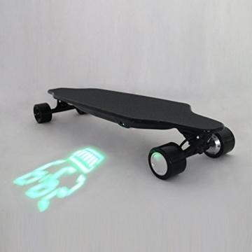 Teamgee H1Elektrisches Longboard Motorisierte Skateboard mit Fernbedienung von Teamgee, UK Adapter - 1