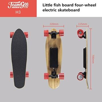 Teamgee H3Elektrisches Longboard Motorisierte Skateboard mit Fernbedienung von Teamgee, UK Adapter - 1