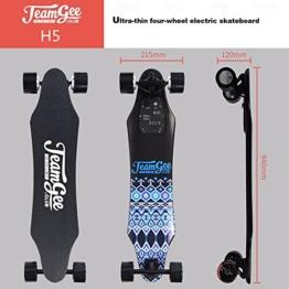 Teamgee H5Elektrisches Longboard Motorisierte Skateboard mit Fernbedienung von Teamgee, UK Adapter - 1