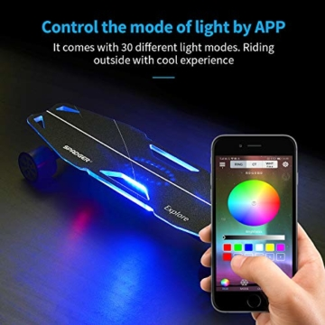 Elektro Longboard mit smartphone steuern