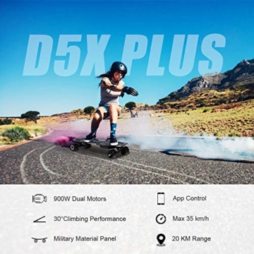 Spadger D5X Plus Elektro Longboard mit led
