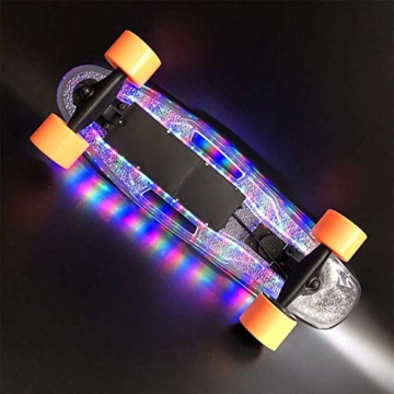 Skateboard mit led beleuchtung