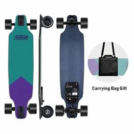 teamgee-h8-elektro-skateboard-e-skateboard-mit-fernbedienung-ultra-duenn-integrierte-akku-480w-motor-bis-zu-14km-reichweit-ahornholz-deck-75kg-max-belastung-fuer-jugendliche-lila-und-gruen-1