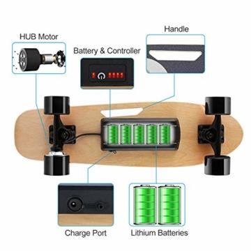 Caroma Elektro Skateboard akku