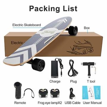 Caroma Elektro Skateboard lieferumfang