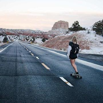 JianJu Elektrisches Skateboard Off-Road Elektro Skateboard mit Fernbedienung, All Terrain Offroadreifen Board Pro Longboard, 10Ah, 40 Km/H - 120 KG, Dual Motor 1450W x 2 - 7